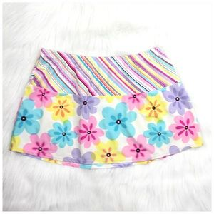 Dresses & Skirts - Floral Mini Skirt Juniors Sz XL 15